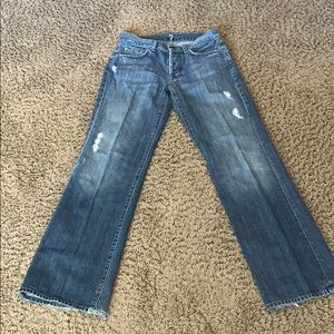 7 For All Mankind relaxed distressed jeans 29x33